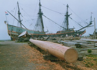 Batavia an new mast
